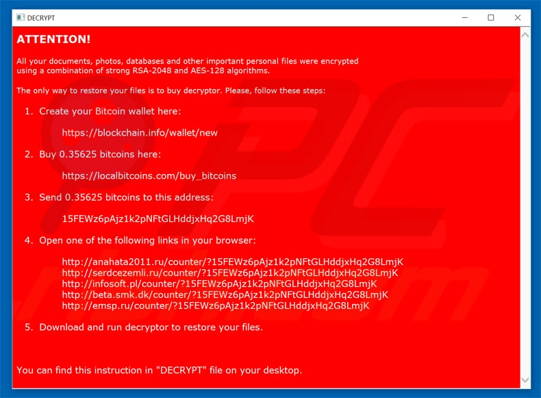 nemucod ransomware updated variant pop-up