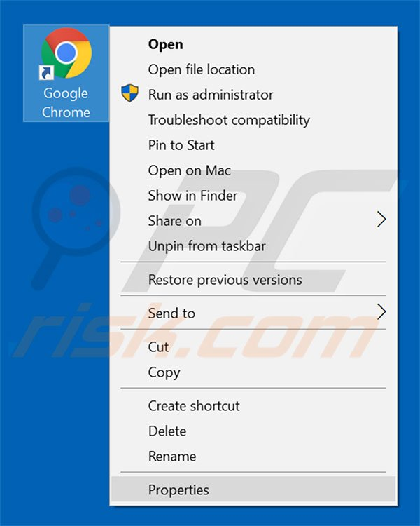 how to change shortcut from google chrome to internet explorer