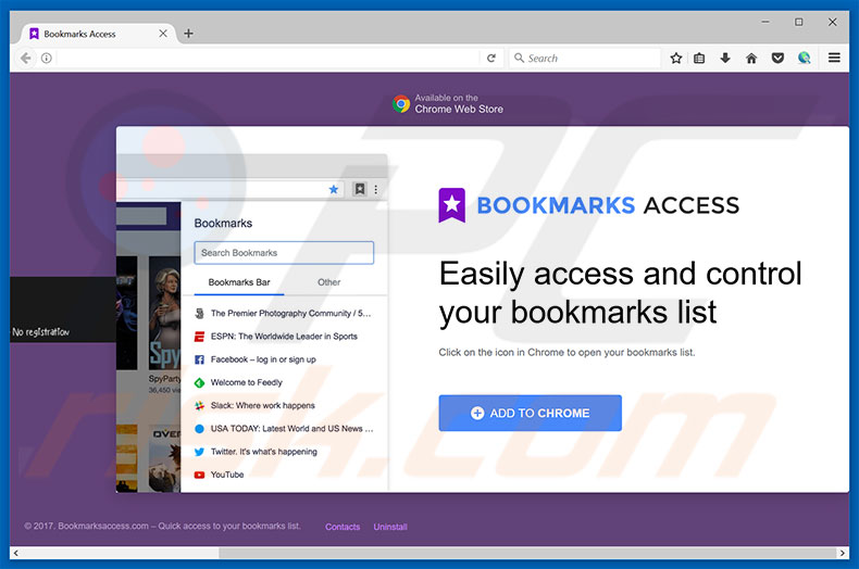 Bookmarks Access adware