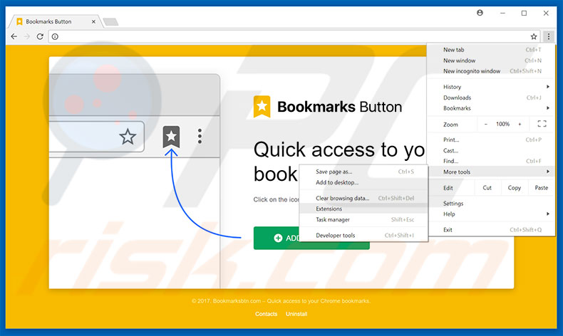 how to add image to chrome bookmark