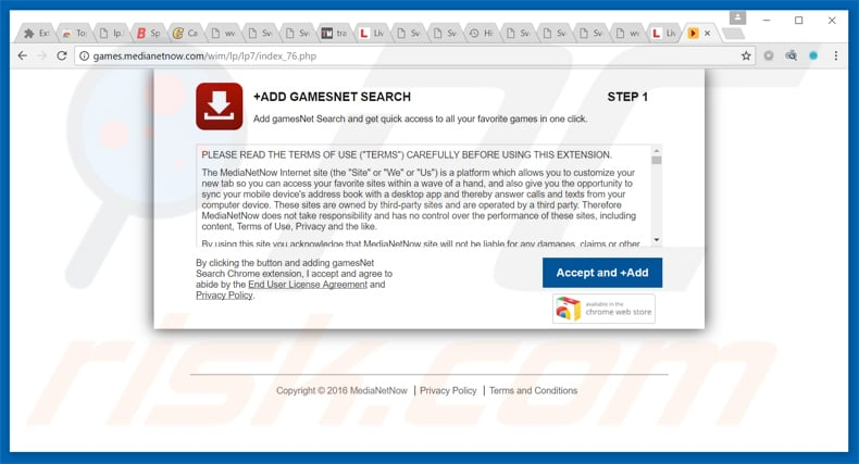 gamesnet search browser hijacker