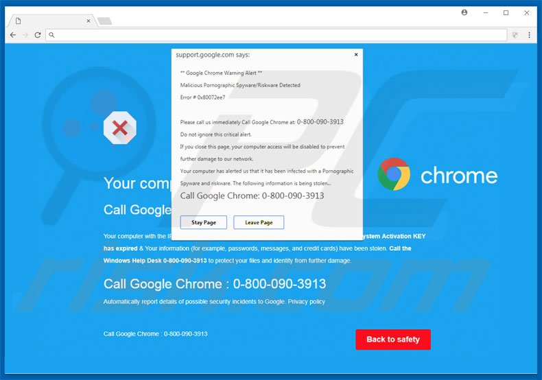 spyware on google chrome