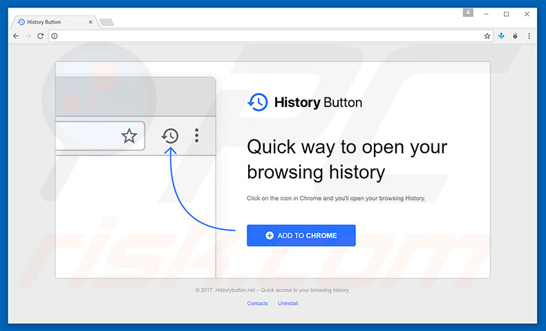How to uninstall History Button Adware - virus removal
