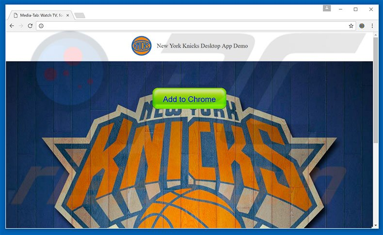 Website used to promote NYKnicksBuzz browser hijacker