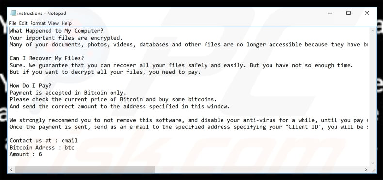 oxar ransomware updated ransom demanding note