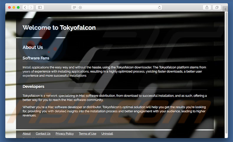 Dubious website used to promote search.tokyofalcon.com