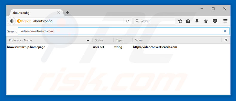 Removing videoconvertsearch.com from Mozilla Firefox default search engine