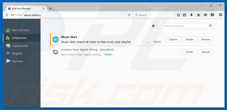 Removing Windows 10 Technical Support ads from Mozilla Firefox step 2