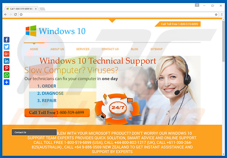Windows 10 Technical Support adware