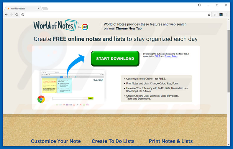 How to get rid of WorldofNotes Toolbar - virus removal guide