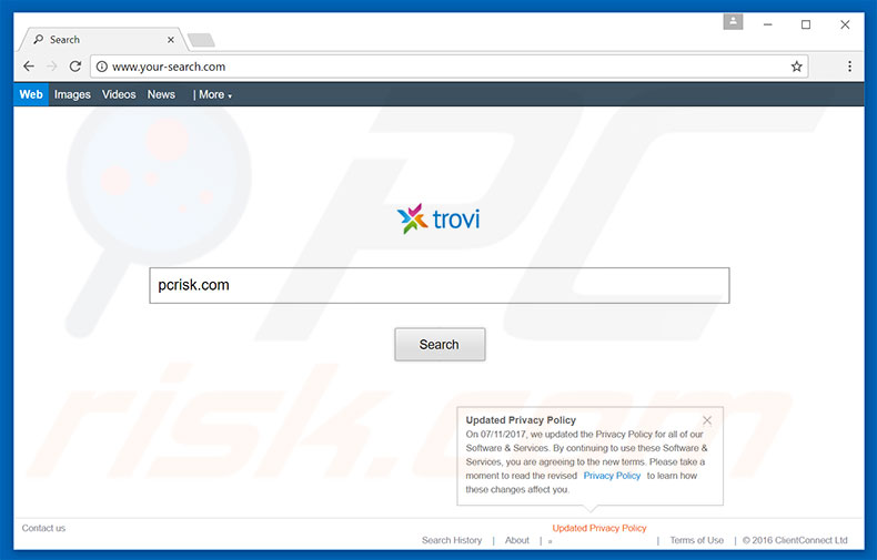 your-search.com browser hijacker