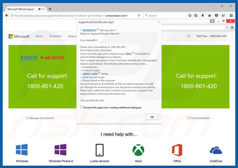 How to uninstall Microsoft Warning Alert Scam - virus