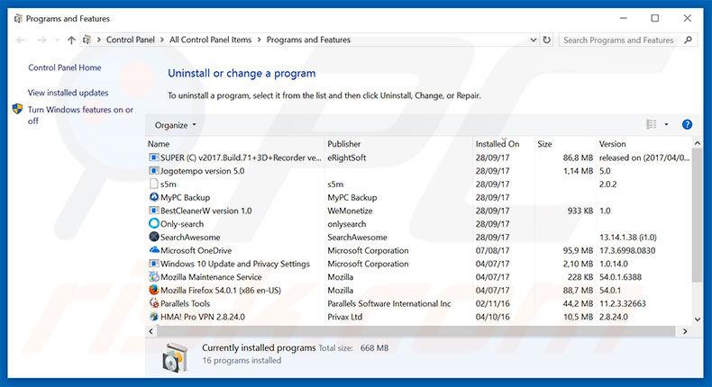 How to uninstall Windows 10 Pro Update Failed Scam - virus