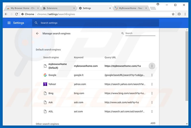how to change my search engine to google in chrome
