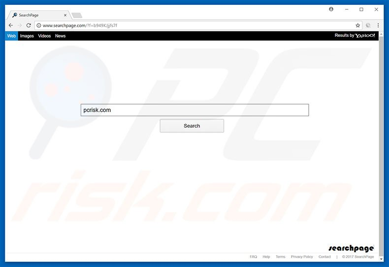 searchpage.com browser hijacker