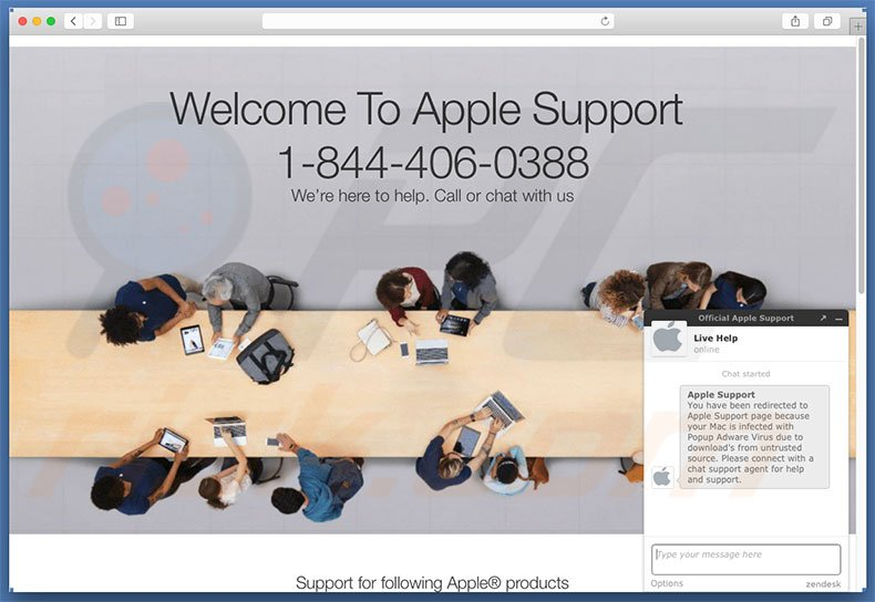 Your Mac Is Infected With Popup Adware Virus error displaying website