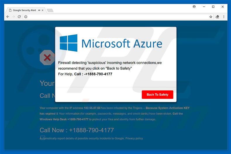 How to uninstall Microsoft Azure POP-UP virus - virus removal