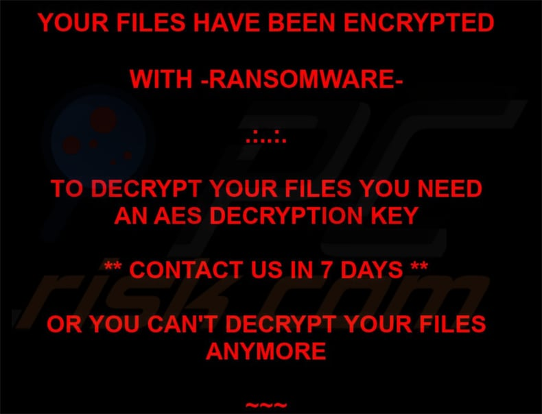 ranion ransomware wallpaper