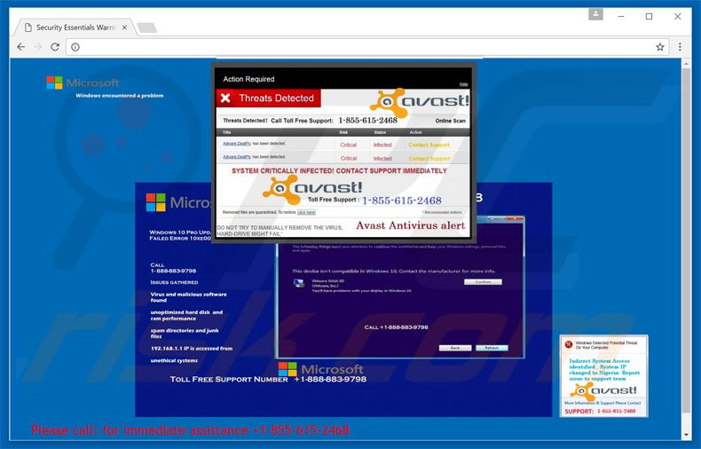 Threats Detected adware