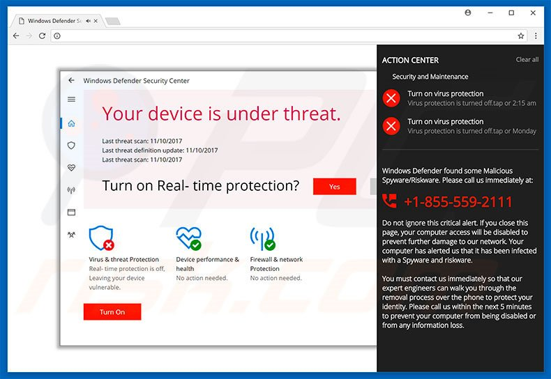 ACTION CENTER adware