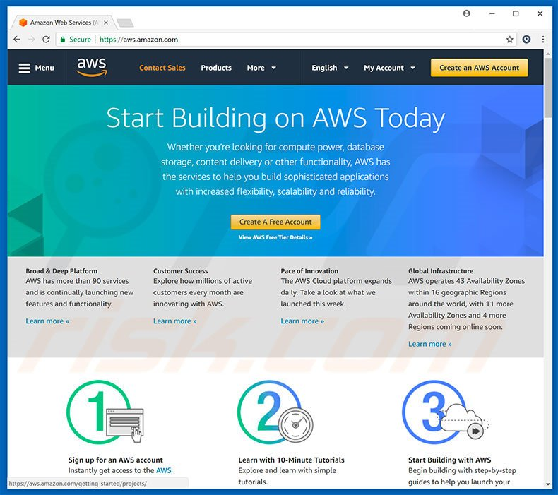 Amazon AWS redirects