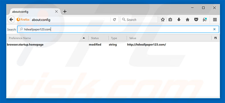 Removing hdwallpaper123.com from Mozilla Firefox default search engine