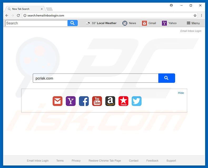 search.hemailinboxlogin.com browser hijacker