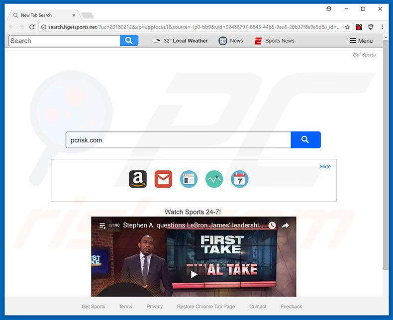 search.hgetsports.net browser hijacker