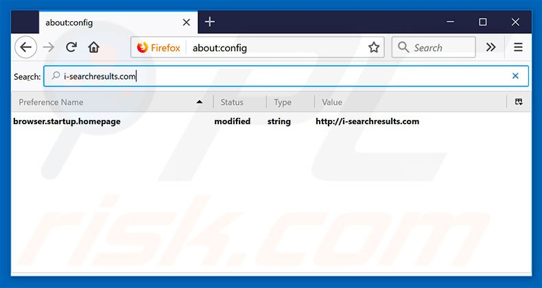 Removing i-searchresults.com from Mozilla Firefox default search engine