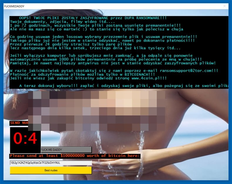 jigsaw ransomware .fuckmedaddy extension