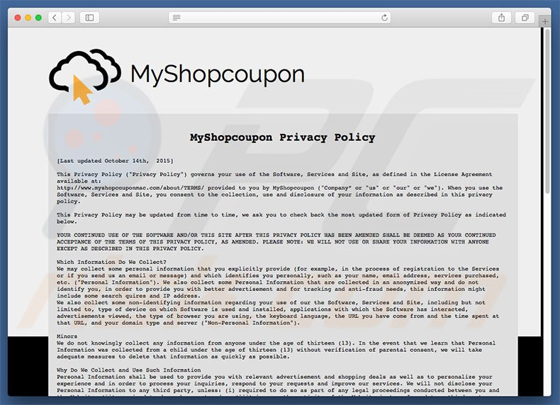 MyShopcoupon Privacy Policy