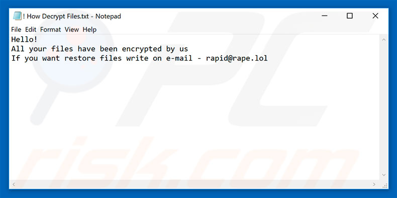 Rapid decrypt instructions