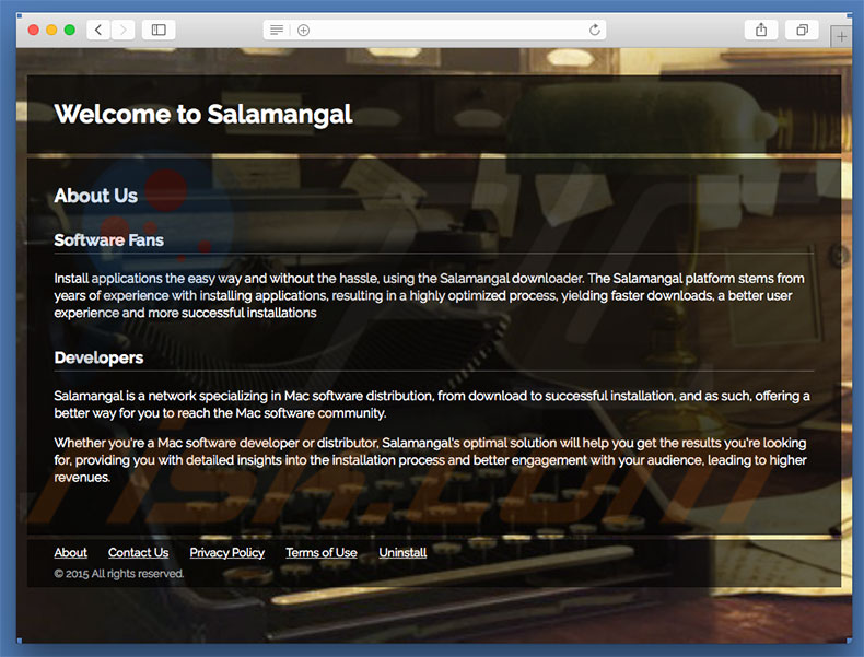 Dubious website used to promote search.salamangal.com