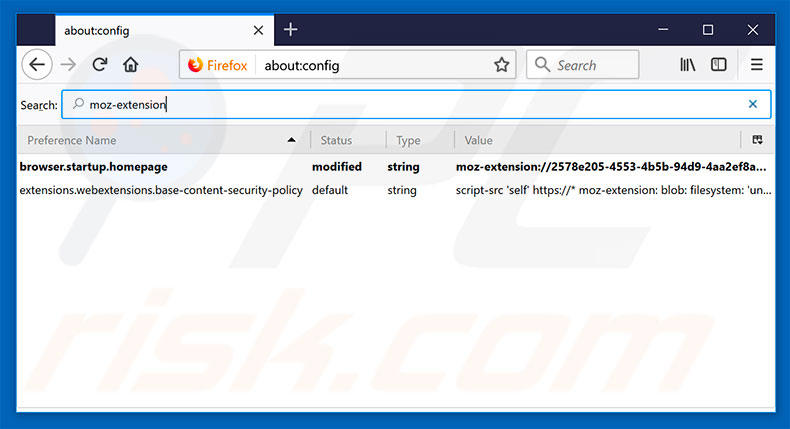 Removing search.searchemaile.com from Mozilla Firefox default search engine