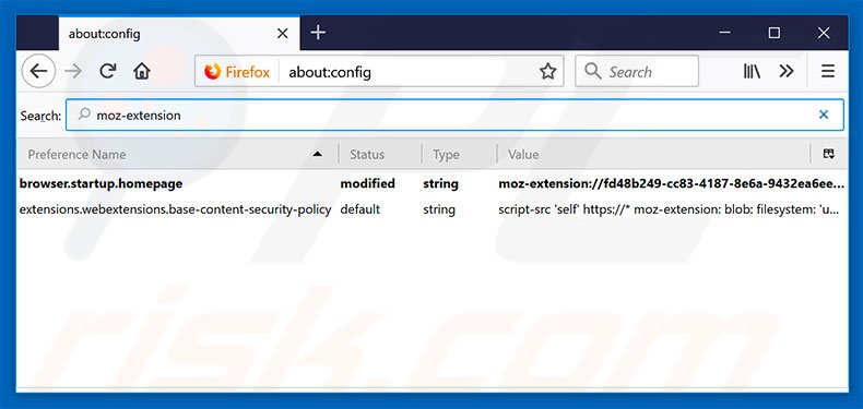 Removing search.dsearchm3f2.com from Mozilla Firefox default search engine