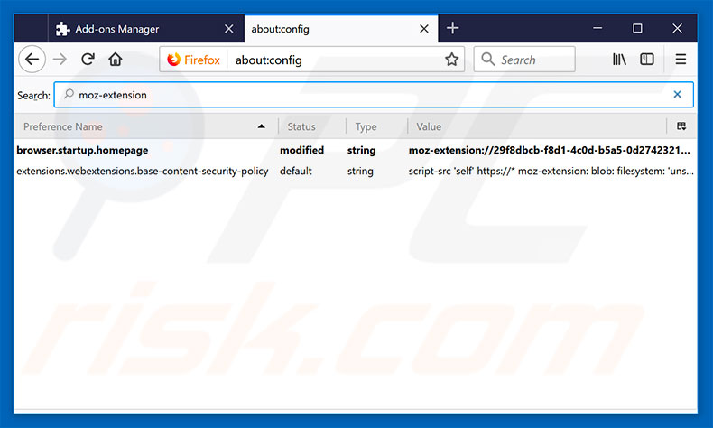 Removing search.searchtpg.com from Mozilla Firefox default search engine