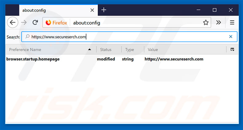 Removing secureserch.com from Mozilla Firefox default search engine