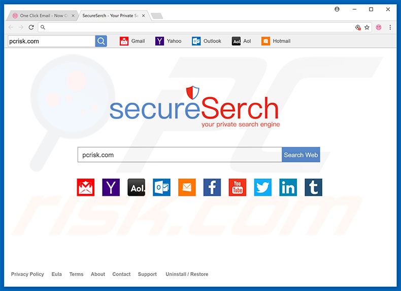 secureserch.com browser hijacker