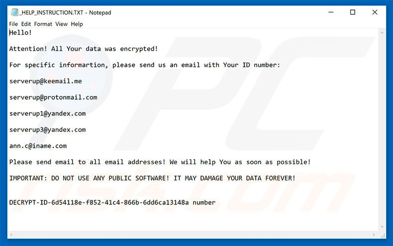 How to remove SERVER Ransomware - virus removal steps