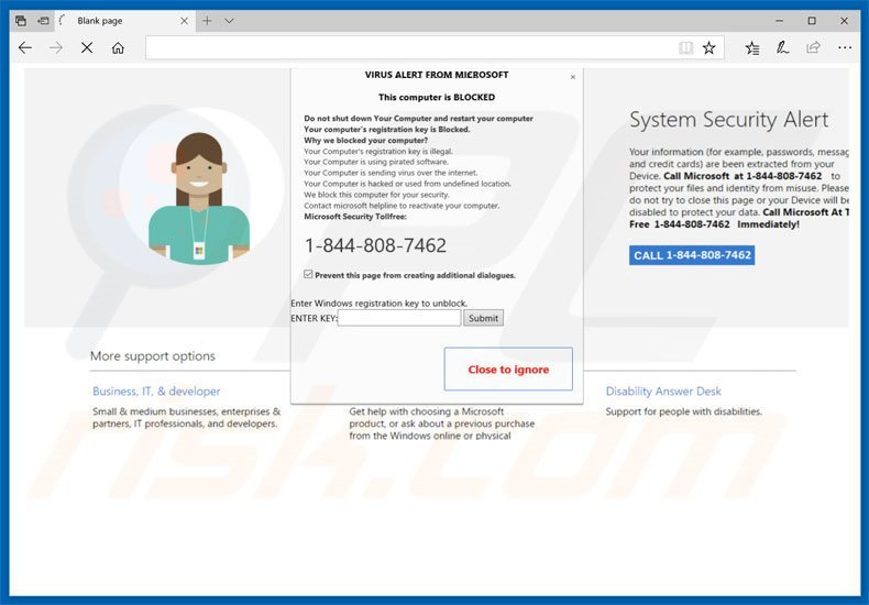 How to remove VIRUS ALERT FROM MICROSOFT POP-UP Scam - virus removal