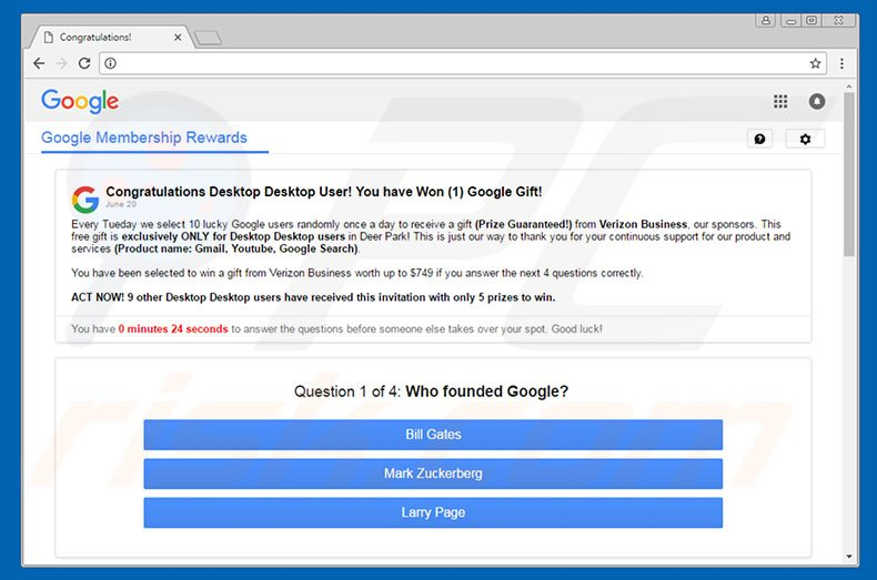 how to uninstall you have won a google gift scam virus removal