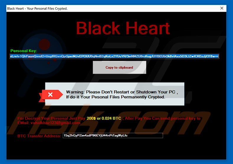 Black Heart decrypt instructions