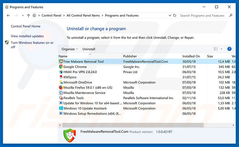 How to uninstall Free Malware Removal Tool Unwanted