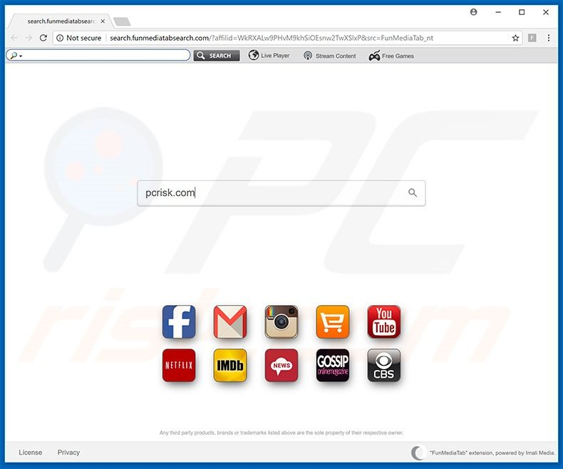 search.funmediatabsearch.com browser hijacker