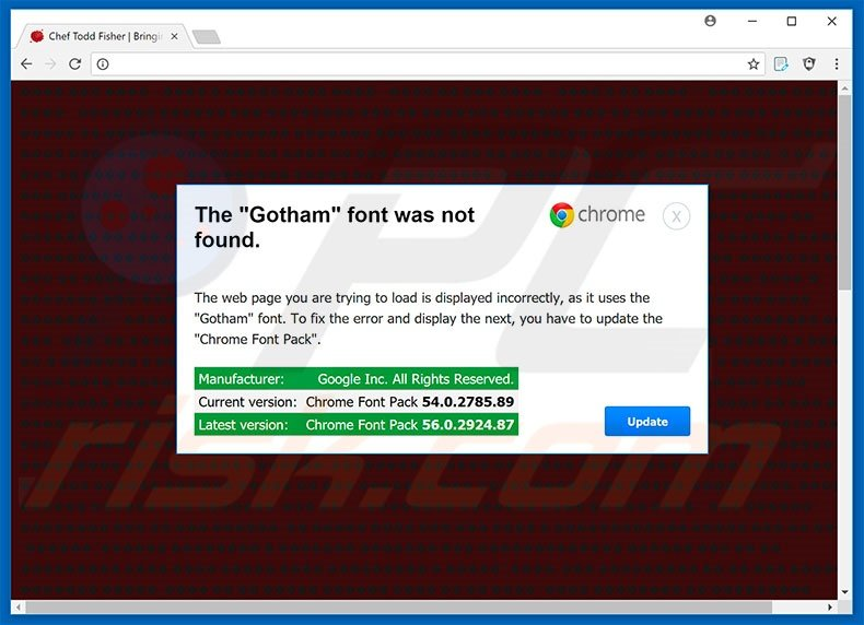 The Gotham Font Was Not Found Google Chrome Step 1