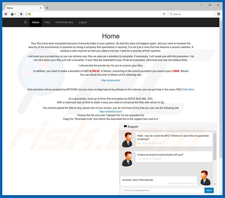 NMCRYPT website
