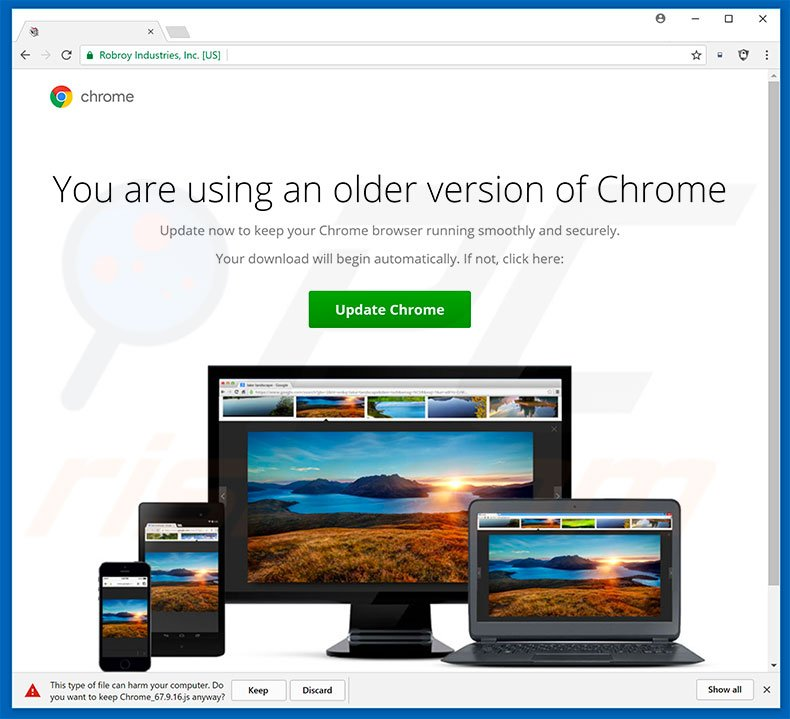 You Are Using An Older Version Of Chrome adware
