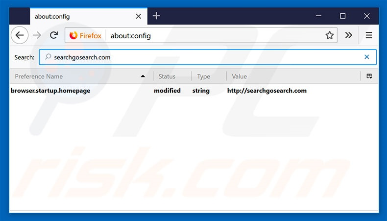 Removing searchgosearch.com from Mozilla Firefox default search engine