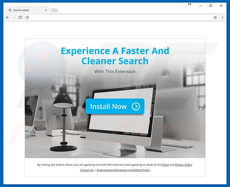 Website used to promote Smart Search browser hijacker
