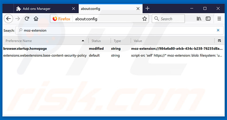 firefox how to get rid of search